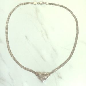 Diamond Pave Heart Pendant Necklace